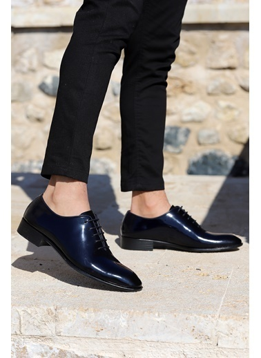 Ayakland Ayakland P100 Rugan %100 Deri Klasik Erkek Ayakkabı Lacivert